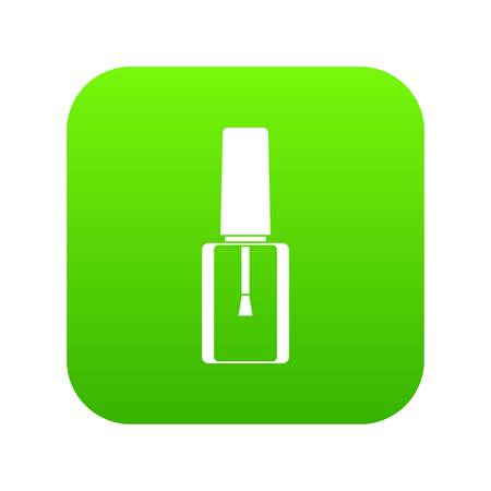 Ilustración de Nail polish bottle icon digital green for any design isolated on white vector illustration - Imagen libre de derechos