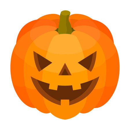 Illustration pour Halloween pumpkin icon. Isometric of halloween pumpkin vector icon for web design isolated on white background - image libre de droit