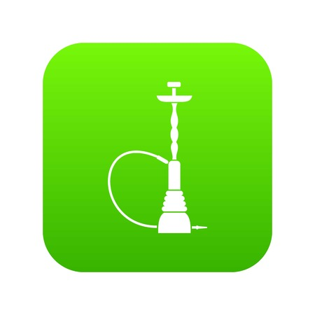 Illustration pour Hookah icon digital green for any design isolated on white vector illustration - image libre de droit