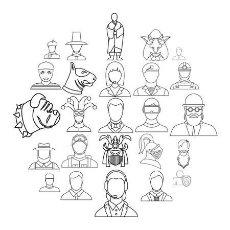 Embodiment icons set. Outline set of 25 embodiment vector icons for web isolated on white background