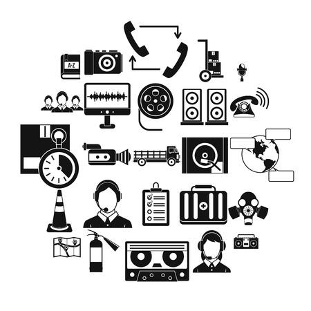 Illustration for Wireless headphones icons set. Simple set of 25 wireless headphones vector icons for web isolated on white background - Royalty Free Image