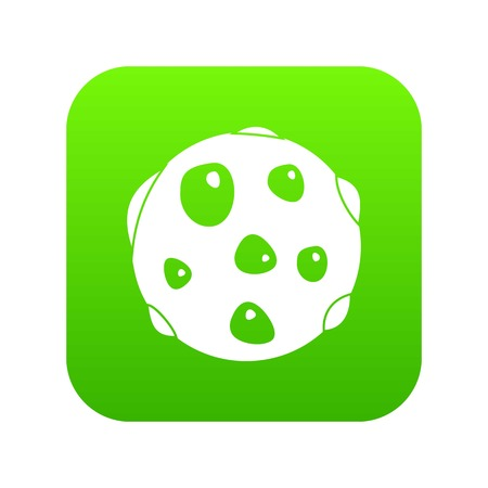 Alone planet icon digital green