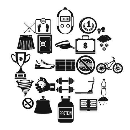 Illustration pour Successful start icons set. Simple set of 25 successful start vector icons for web isolated on white background - image libre de droit