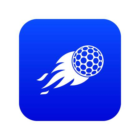 Illustration for Burning golf ball icon digital blue for any design isolated on white vector illustration - Royalty Free Image