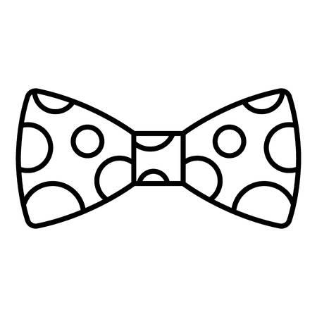 Ilustración de Polka bow tie icon. Outline polka bow tie vector icon for web design isolated on white background - Imagen libre de derechos