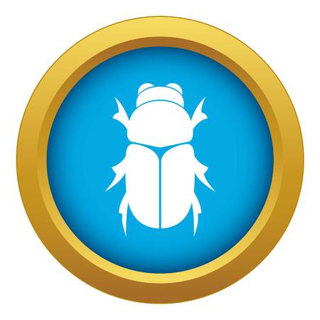 Chafer beetle icon blue vector isolated on white background for any design