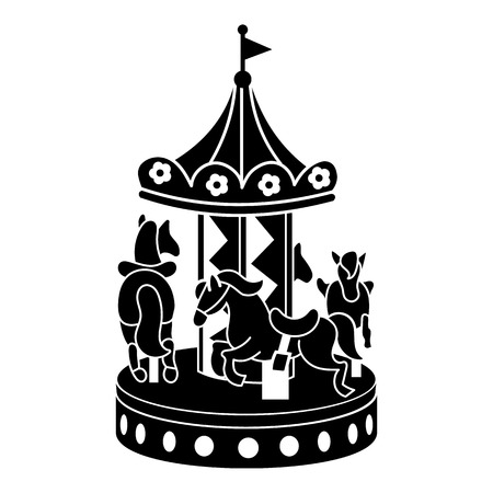 Illustration for Horse carousel icon. Simple illustration of horse carousel vector icon for web design isolated on white background - Royalty Free Image