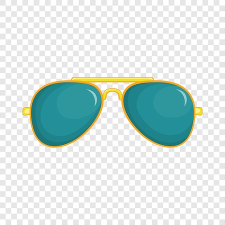 Illustration for Glasses icon in cartoon style isolated on background for any web design - Royalty Free Image