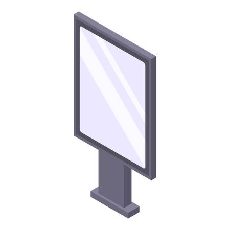 Illustration for Modern lightbox icon. Isometric of modern lightbox vector icon for web design isolated on white background - Royalty Free Image