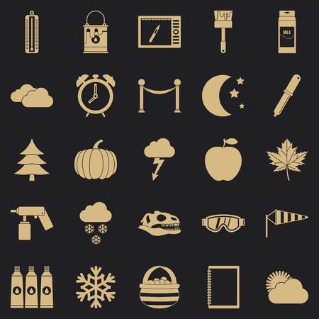 Portrayal icons set. Simple set of 25 portrayal vector icons for web for any design