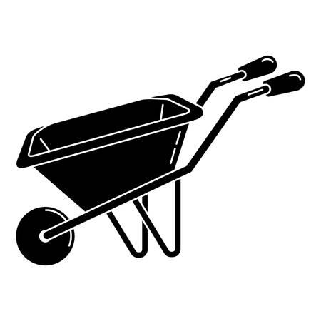 Illustration for Wheelbarrow icon, simple style - Royalty Free Image
