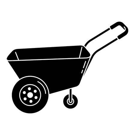 Illustration for Farm wheelbarrow icon, simple style - Royalty Free Image