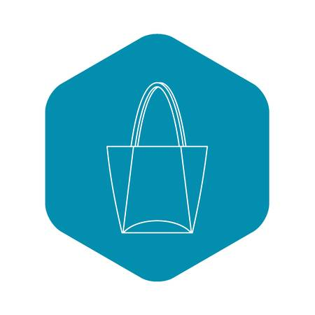 Illustration for Big bag icon, outline style - Royalty Free Image