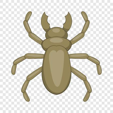 Beetle woodworm icon, cartoon style