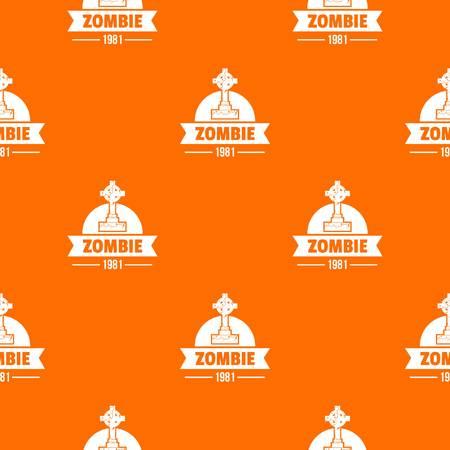 Zombie dark pattern vector orange: Royalty-free vector graphics