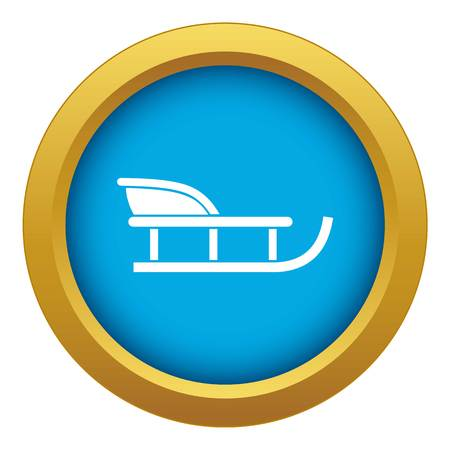 Sled icon blue vector isolated on white background for any design