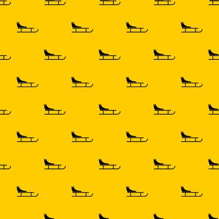 Sled pattern seamless vector repeat geometric yellow for any design