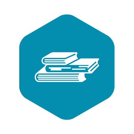 Book stack icon. Simple illustration of book stack vector icon for web design isolated on white background