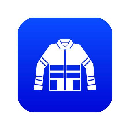 Illustration pour Firefighter jacket icon digital blue for any design isolated on white vector illustration - image libre de droit