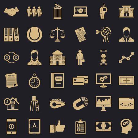 Partnership relation icons set. Simple set of 36 partnership relation vector icons for web for any design