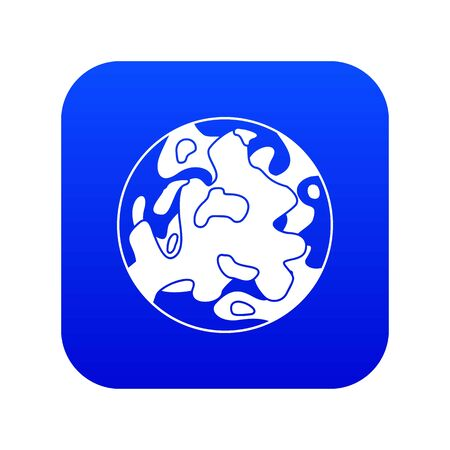 Small planet icon digital blue
