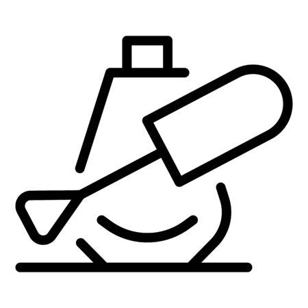 Illustration pour Nail paint bottle icon. Outline nail paint bottle vector icon for web design isolated on white background - image libre de droit