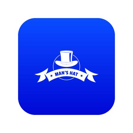 Illustration for Modern hat icon blue vector - Royalty Free Image