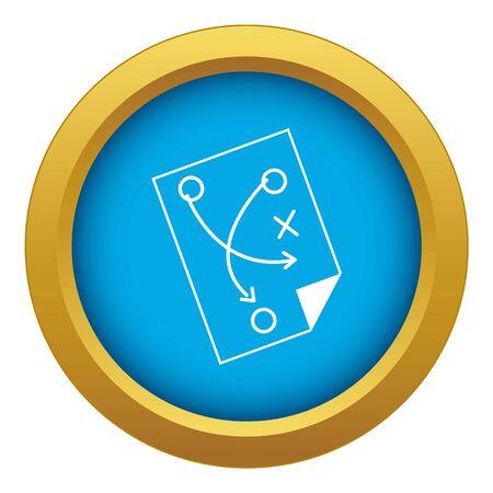 Photo pour Soccer strategy icon blue isolated - image libre de droit