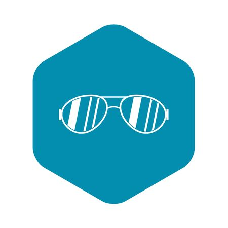 Glasses icon, simple style
