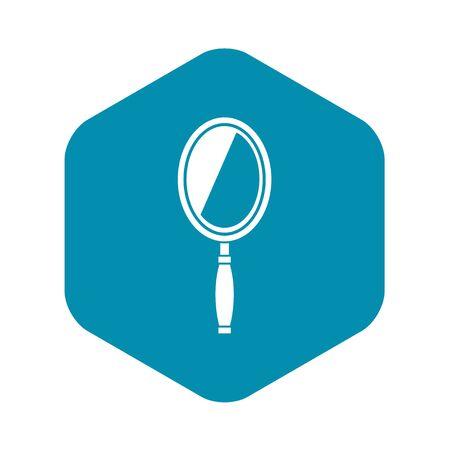 Illustration pour Mirror icon. Simple illustration of mirror vector icon for web - image libre de droit