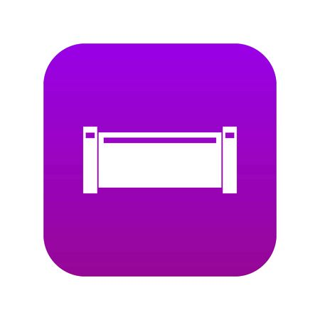 Illustration pour Pipe piece icon digital purple for any design isolated on white vector illustration - image libre de droit