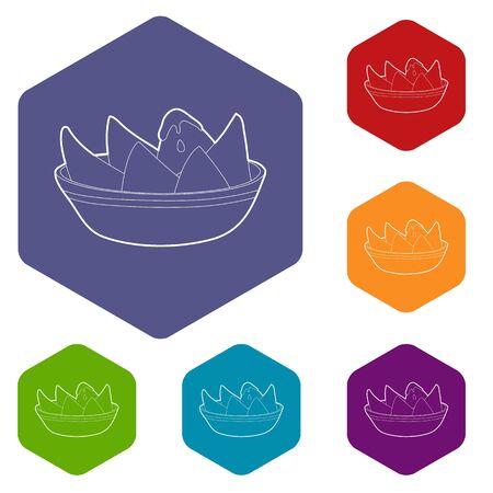 Illustration pour Melon with cream icon. Outline illustration of melon with cream vector icon for web design - image libre de droit