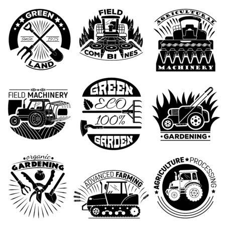 Illustration pour Farming equipment icon set, simple style - image libre de droit