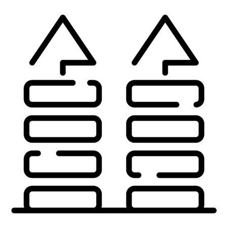 Illustration pour Fabric feature icon, outline style - image libre de droit