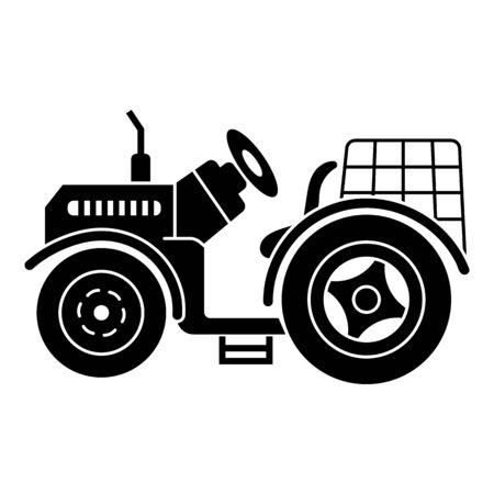 Illustration pour Farm tractor icon. Simple illustration of farm tractor vector icon for web design isolated on white background - image libre de droit