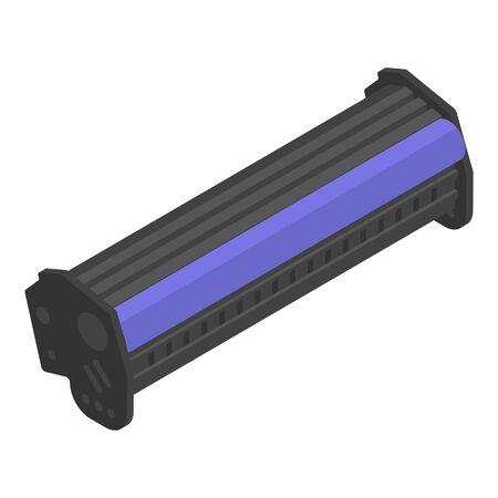 Illustration pour Laser printer toner cartridge icon, isometric style - image libre de droit
