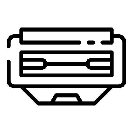 Illustration pour Office cartridge icon, outline style - image libre de droit