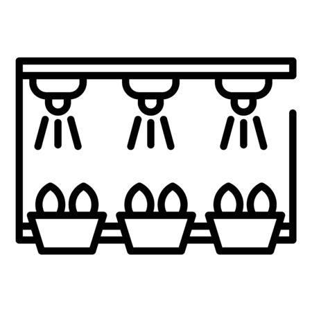 Illustration pour Smart irrigation rack icon. Outline smart irrigation rack vector icon for web design isolated on white background - image libre de droit