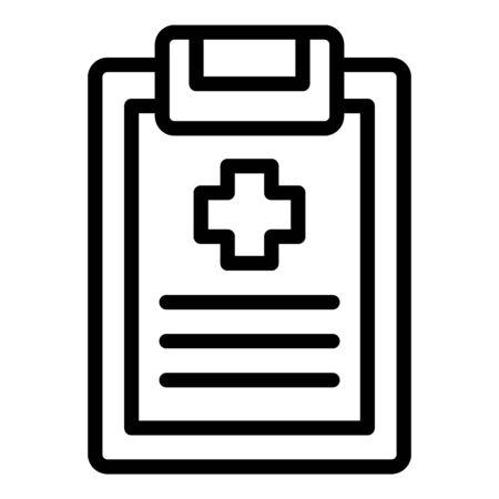 Ilustración de Medical clipboard icon, outline style - Imagen libre de derechos