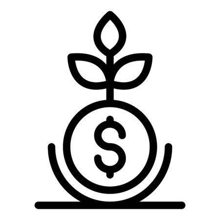 Ilustración de Money business plant icon, outline style - Imagen libre de derechos