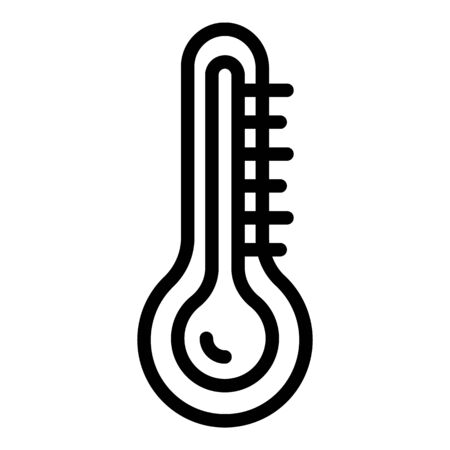 Illustration for Thermometer in the steam room icon. Outline thermometer in the steam room vector icon for web design isolated on white background - Royalty Free Image