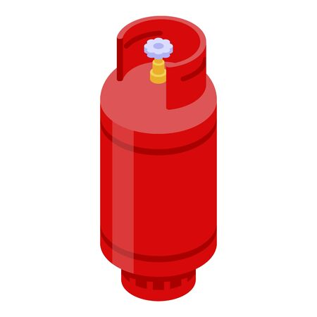 House gas cylinder icon. Isometric of house gas cylinder vector icon for web design isolated on white background