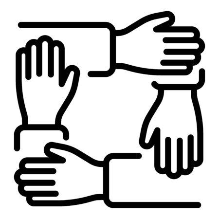 Illustration pour Integrity racism icon, outline style - image libre de droit