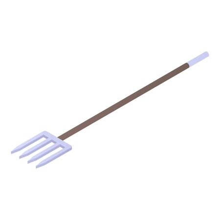 Illustration for Farm tool fork icon, isometric style - Royalty Free Image