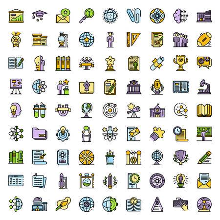 Illustration pour University icons vector flat - image libre de droit