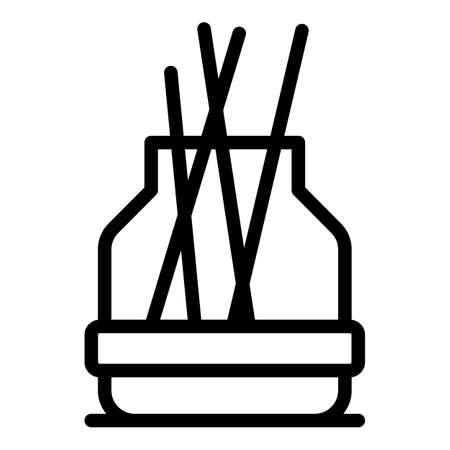 Illustration pour Therapy diffuser icon, outline style - image libre de droit