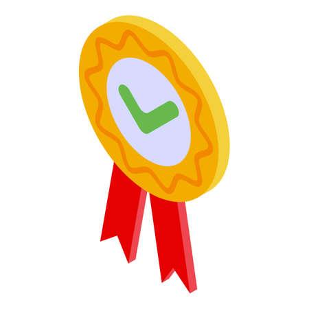 Illustration pour Quality assurance emblem icon, isometric style - image libre de droit