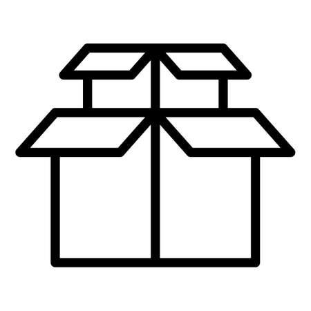 Illustration pour Cargo box icon, outline style - image libre de droit