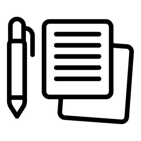 Illustration pour Writing pen icon, outline style - image libre de droit