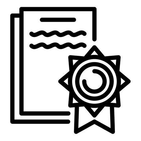 Photo pour Lawsuit icon. Outline lawsuit icon for web design isolated on white background - image libre de droit